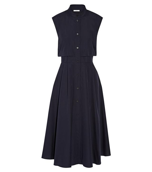 Tome Cape-Effect Cotton-Poplin Midi Dress