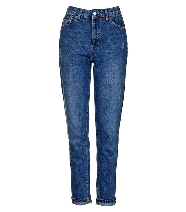 Topshop Moto Dark Blue Mom Jeans
