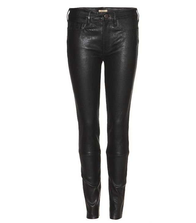 True Religion Halle Leather Super Skinny Trousers