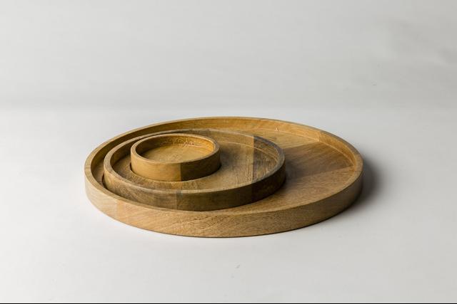 MJG by Mr Jason Grant Hub Timber Trays (Set of Three)