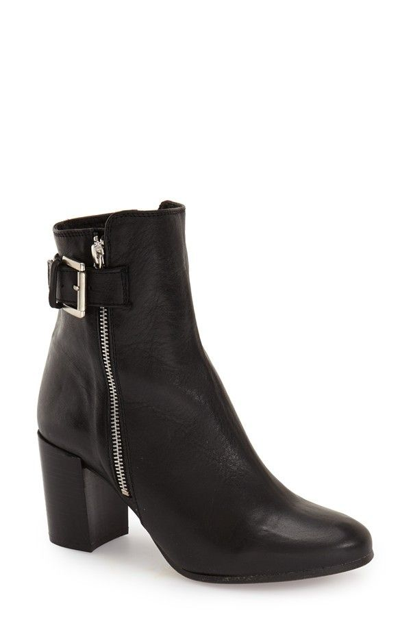 Topshop Mega Buckle Booties