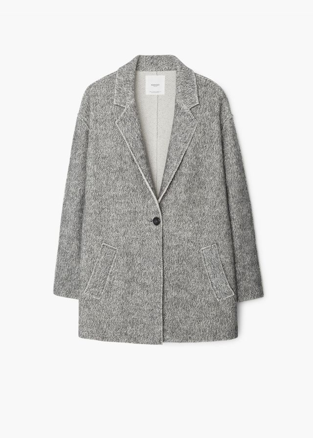 Mango Flecked Cotton-Blend Coat
