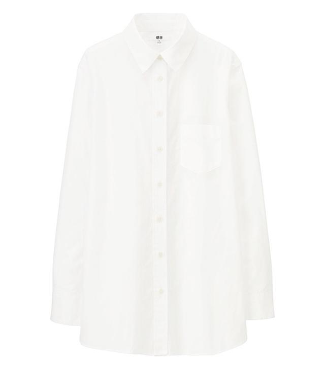 Uniqlo Cotton Long Sleeve Long Shirt