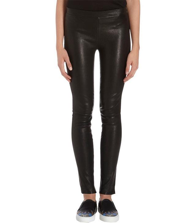 J Brand Leather Pull On Legging