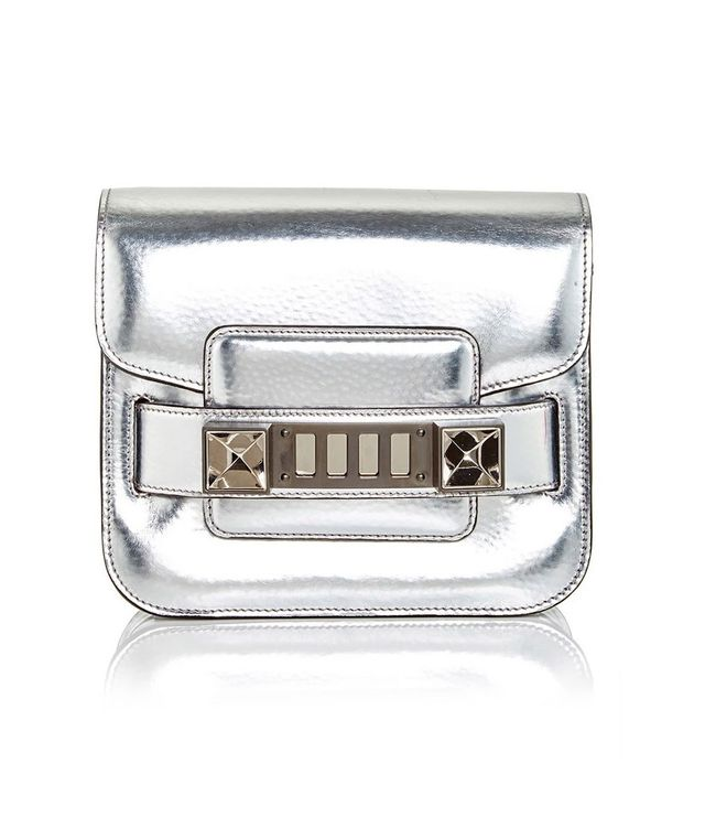 Proenza Schouler Silver Patent Leather PS11 Tiny Tote