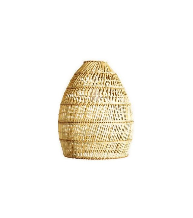 World Market Basket Weave Bamboo Pendant Lamp