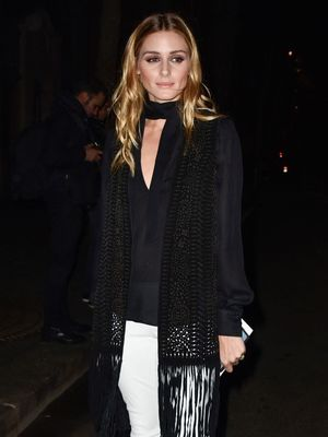 Olivia Palermo Wore This Gorgeous Cutout Turtleneck Twice This Month