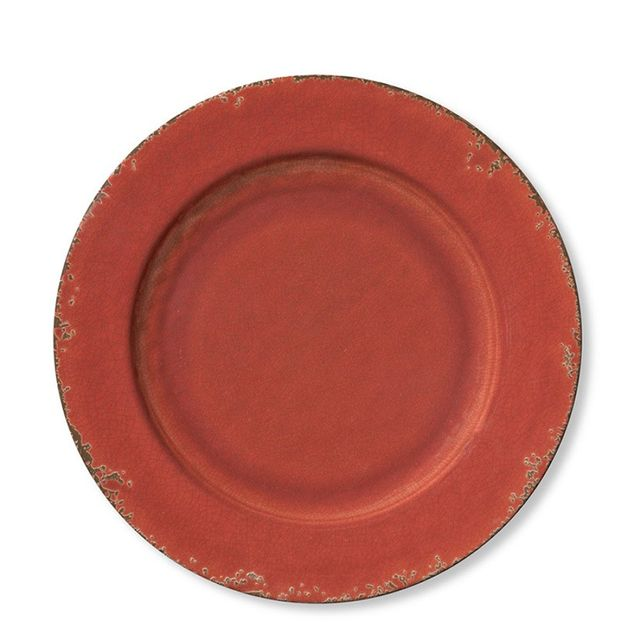 Williams-Sonoma Rustic Melamine Dinner Plate, Red