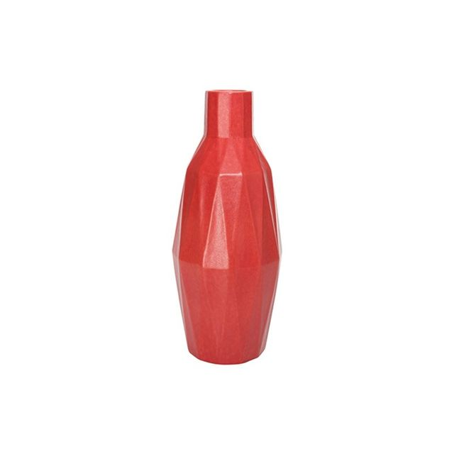 Freedom Pleat Vessel 29cm in Red