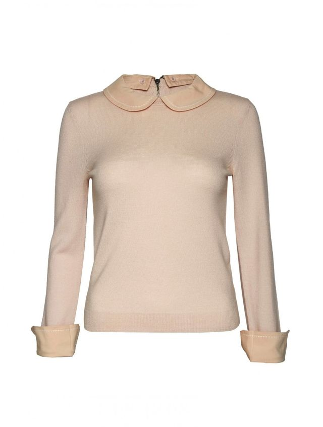Alice + Olivia Porla Embroidered Collared Sweater