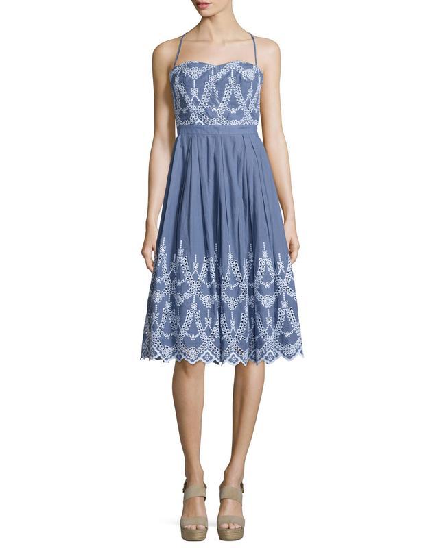 Kendall + Kylie Eyelet Halter Dress