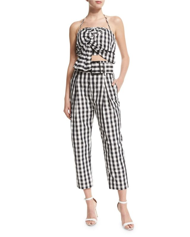 Kendall + Kylie High-Waisted Cropped Trousers