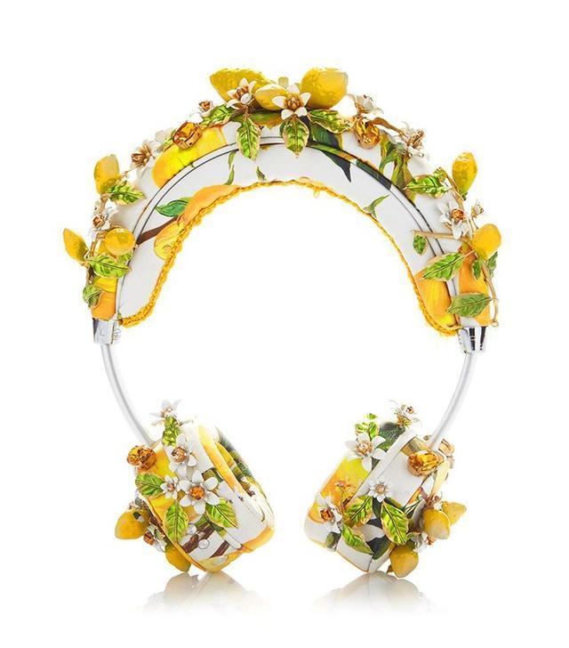 Dolce & Gabbana Lemon Floral Headphones