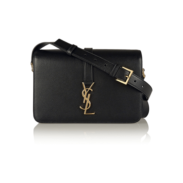 Saint Laurent Monogramme Sac Université Medium Textured-Leather Shoulder Bag