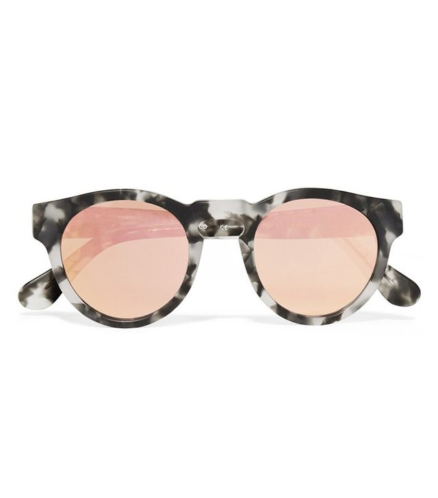 Westward Leaning x Olivia Palermo Round-Frame Acetate Mirrored Sunglasses