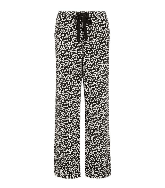 Equipment Avery Heart Printed Silk Pajama Pants