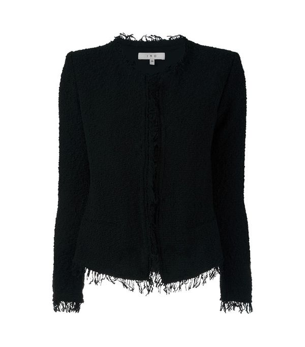 Iro Fringed Bouclé Jacket