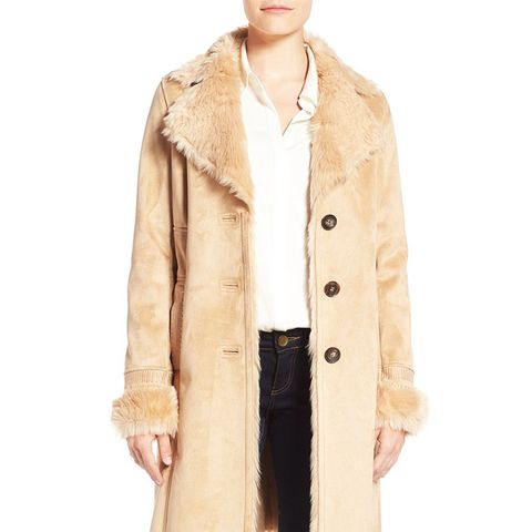 Faux Shearling Lined Coat