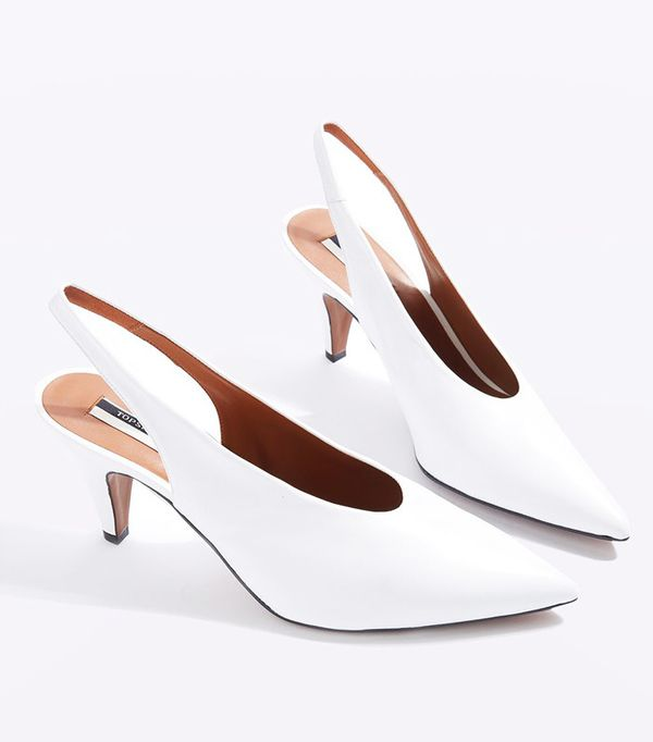 Topshop Jemma Point Mid Heel Court Shoes