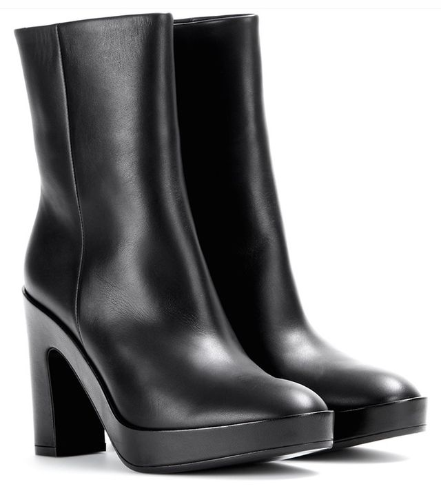 Balenciaga Pads Leather Ankle Boots