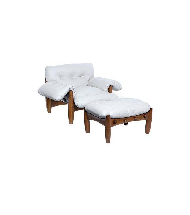 Sergio Rodrigues Mole Armchair and Ottoman