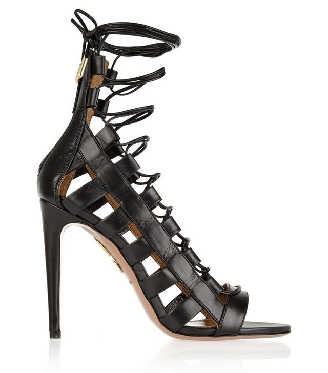 Aquazzura Amazon Lace-Up Leather Sandals