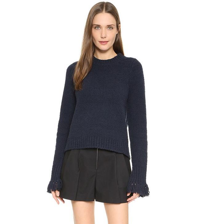 3.1 Phillip Lim Crew Neck Fringe Sweater