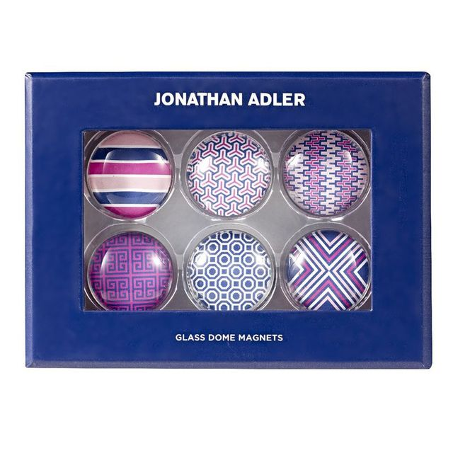 Jonathan Adler Glass Dome Magnets Pink 6 Pack