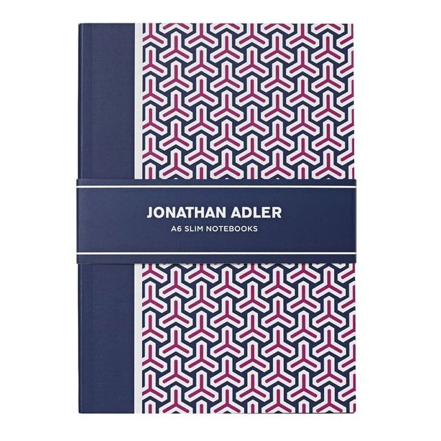 Johnathan Adler A6 Slim Notebooks Pink 2 Pack