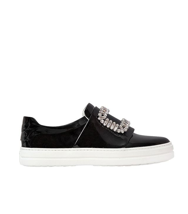 Roger Vivier 25mm Swarovski Patent Leather Sneakers