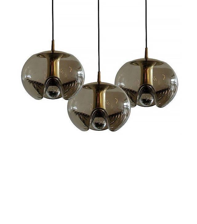 Peill + Putzler Set of Three Smoked Hanging Glass Lights