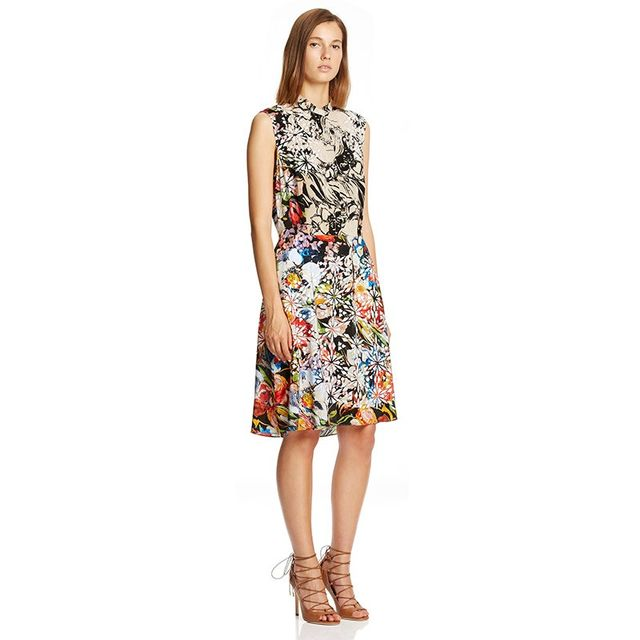 Scanlan Theodore Floral Mosaic Dress