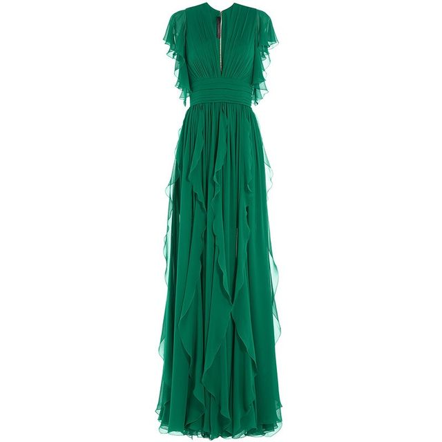 Elie Saab Silk Evening Gown