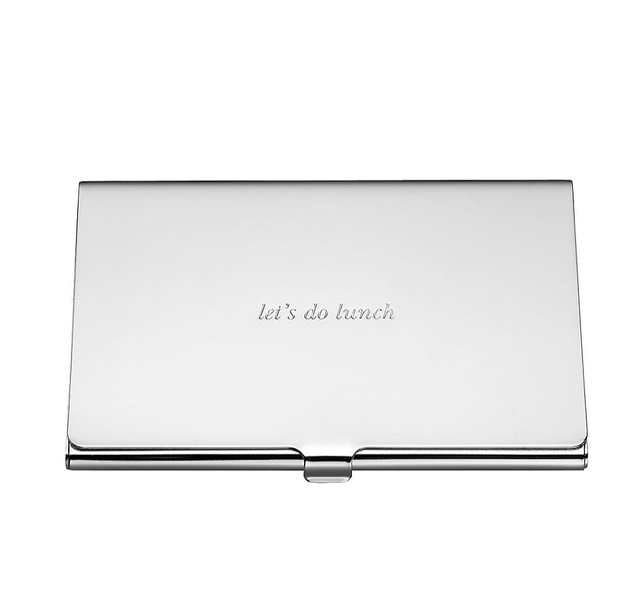 Kate Spade 'Let's Do Lunch' Business Card Holder