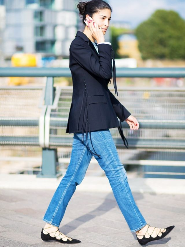 London Look #7: Blazer, Skinnies and Smart Flats