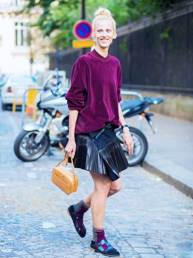 On Aymeline Valade: Haider Ackermann top, skirt and shoes.