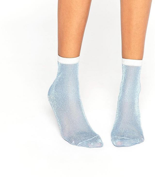 ASOS Contrast Glitter Socks