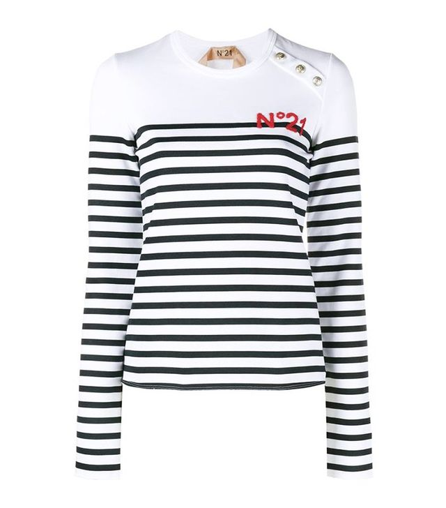 No.21 Striped Long Sleeve Jumper