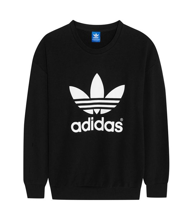 Adidas Cotton-Blend Trefoil Sweatshirt