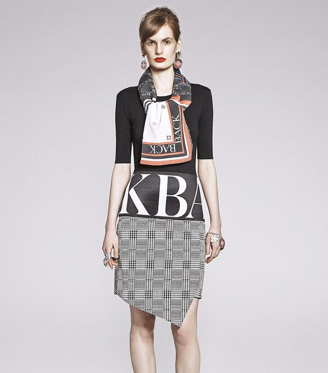Ann-Sofie Back Huge Logo Woven Skirt