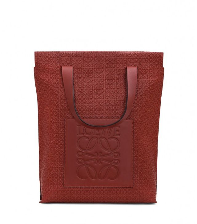Loewe Shopper Bag in Brick Red