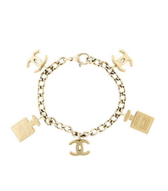 Chanel Vintage Chanel No.5 Bottle and Logo Charm Bracelet