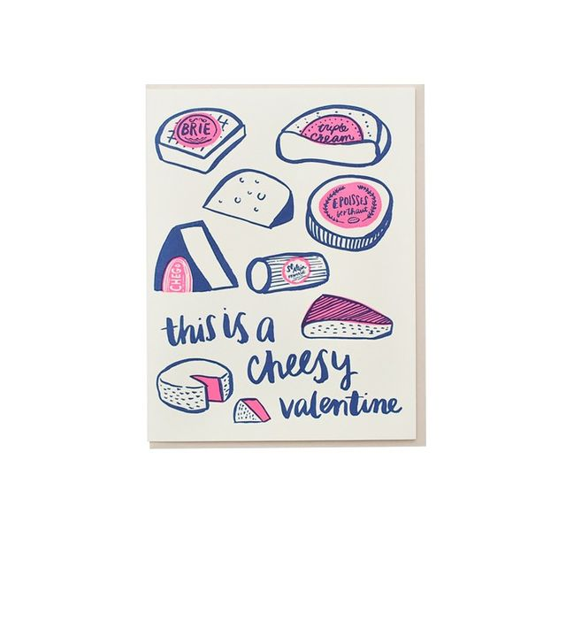 Hello! Lucky This Is a Cheesy Valentine Card
