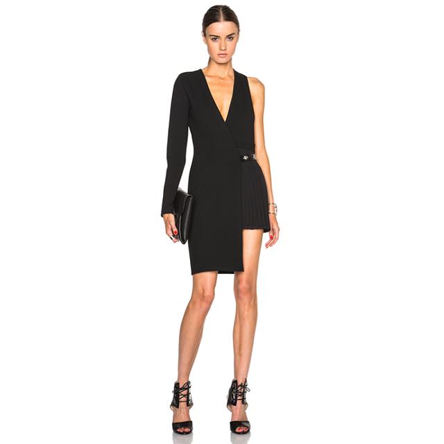 Versace Versus Asymmetrical Dress With Button Detail