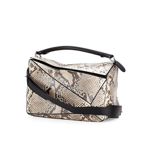 Puzzle Large Python Satchel Bag