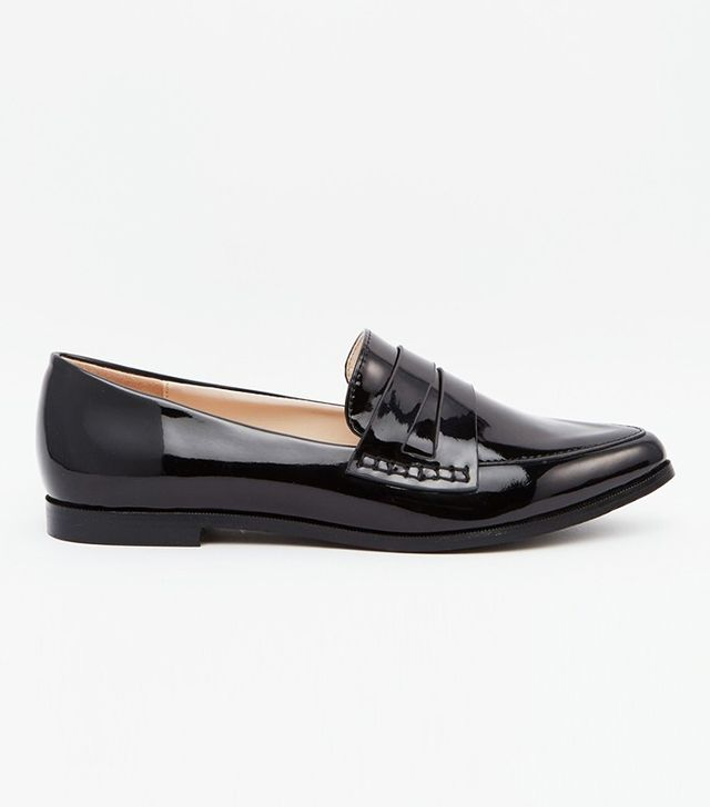 Daisy Street Patent Pointed Toe Loafer