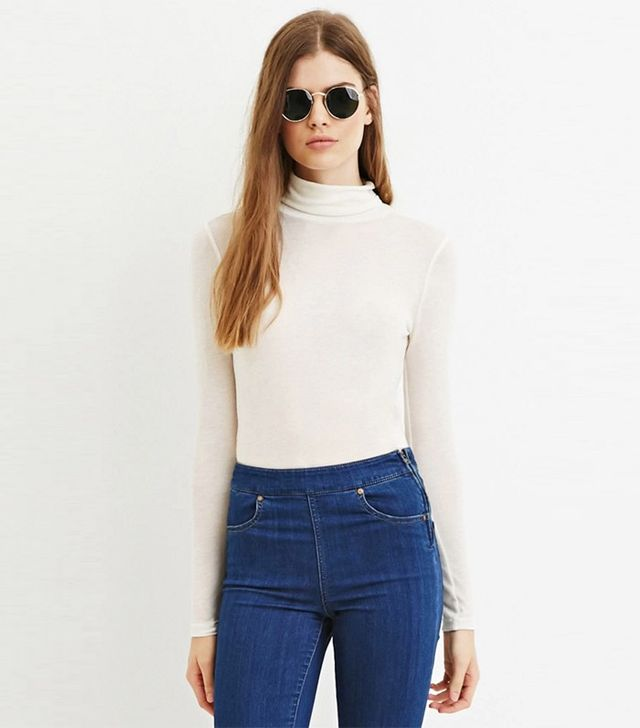 Forever 21 Contemporary Sheer Turtleneck