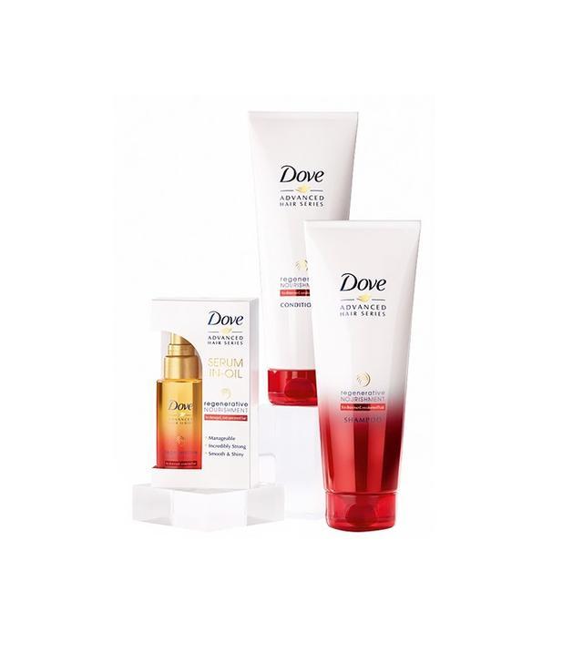 Dove Regenerative Nourishment Shampoo, Conditioner, and Serum in Oil