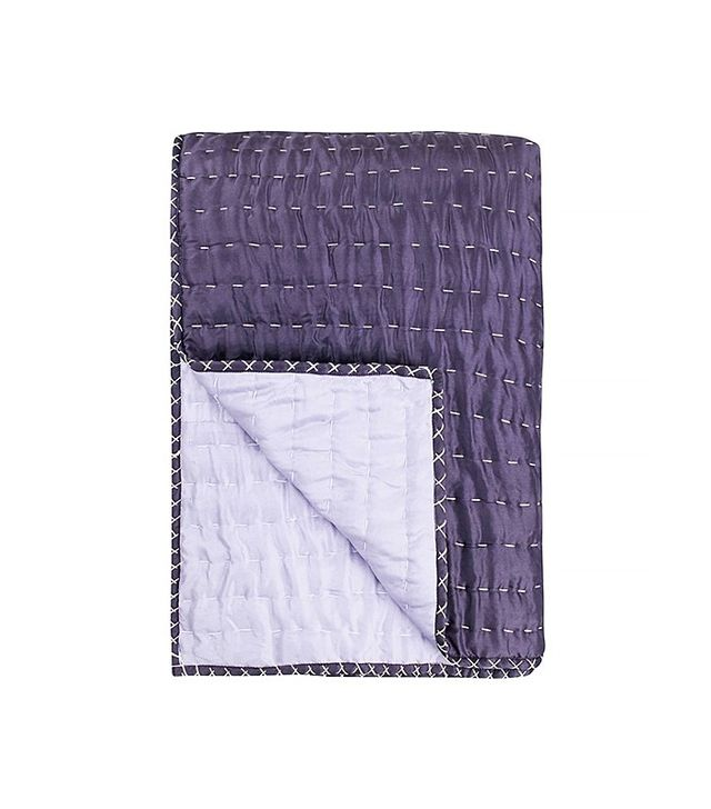 Designers Guild Chenevard Plum & Amethyst Reversible Quilt