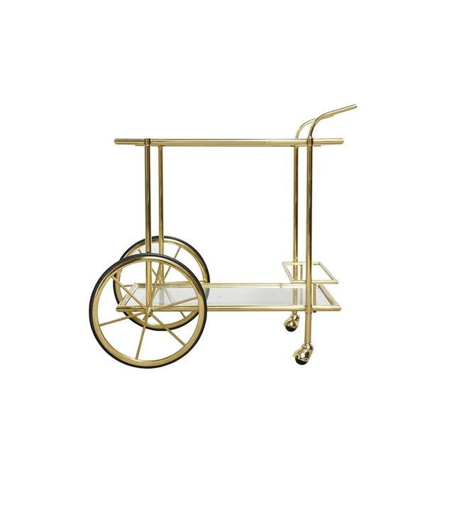 46 Kloosterstraat French Polished Brass Bar Cart